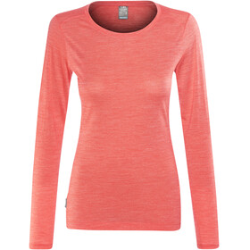 Icebreaker Sphere LS Low Crewe Shirt Women poppy red hthr
